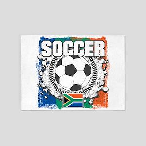 South Africa Soccer 5'x7'Area Rug