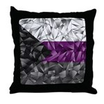 Abstract Demisexual Flag Throw Pillow