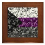 Abstract Demisexual Flag Framed Tile