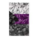 Abstract Demisexual Flag Area Rug