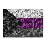 Abstract Demisexual Flag 5'x7'Area Rug