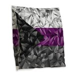 Abstract Demisexual Flag Burlap Throw Pillow