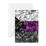 Abstract Demisexual Flag Greeting Cards (Pk of 10)