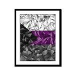 Abstract Demisexual Flag Framed Panel Print