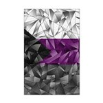 Abstract Demisexual Flag Mini Poster Print