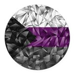Abstract Demisexual Flag Round Car Magnet