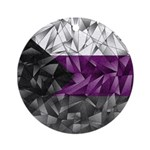 Abstract Demisexual Flag Ornament (Round)