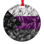 Abstract Demisexual Flag Round Ornament
