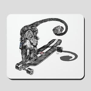 Simian Skateboarder Mousepad
