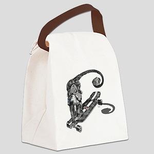 Simian Skateboarder Canvas Lunch Bag