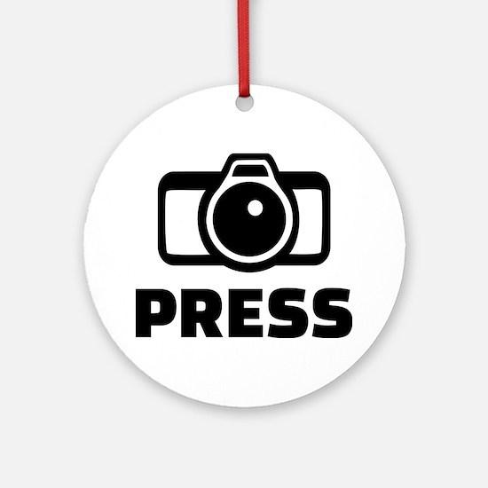 Press camera Ornament (Round)