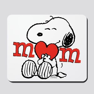 Snoopy Mom Hug Mousepad