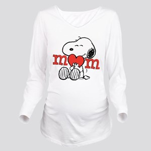 Snoopy Mom Hug Long Sleeve Maternity T-Shirt