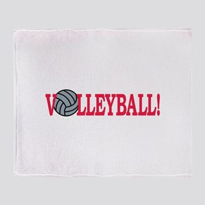 Volleyball text Throw Blanket