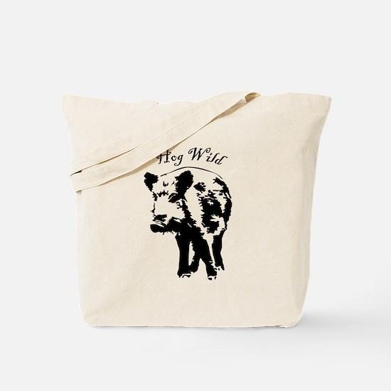Cute Wild hog hunting Tote Bag
