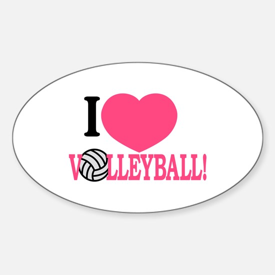 I Love Volleyball! Decal