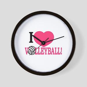 I Love Volleyball! Wall Clock