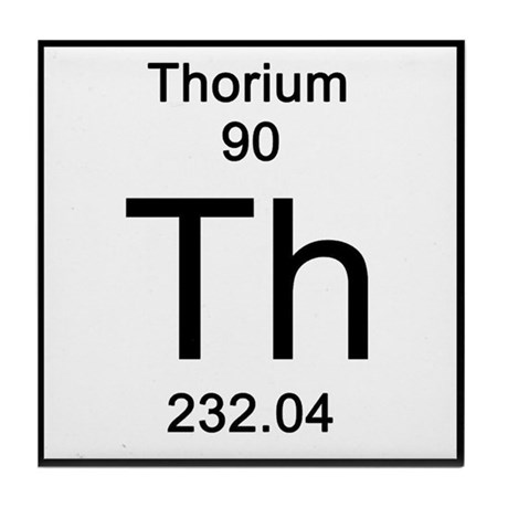 90 Thorium Tile Coaster By Sciencelady
