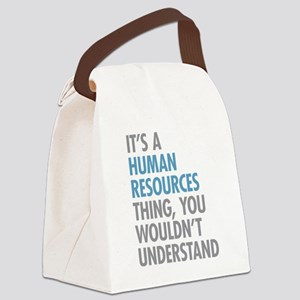 Human Resources Thing Canvas Lunch Bag