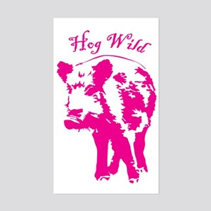 Hog wild Sticker (Rectangle)