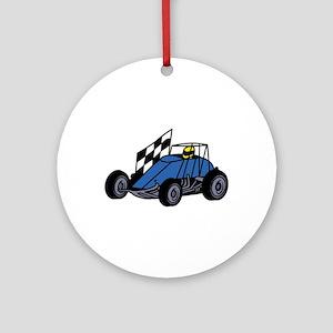 Non-Winged Sprint Car Ornament (Round)