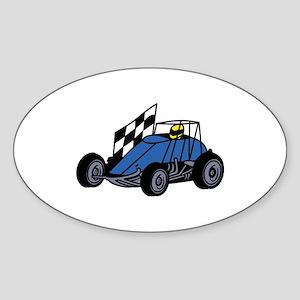 Non-Winged Sprint Car Sticker