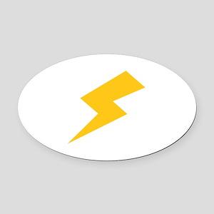 Lightning Bolt Oval Car Magnet