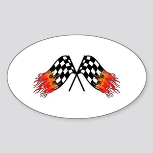 Hot Crossed Flags Sticker