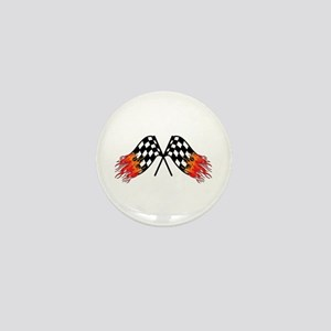 Hot Crossed Flags Mini Button