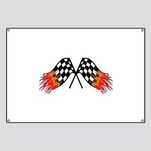 Hot Crossed Flags Banner