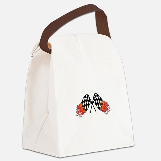 Hot Crossed Flags Canvas Lunch Bag
