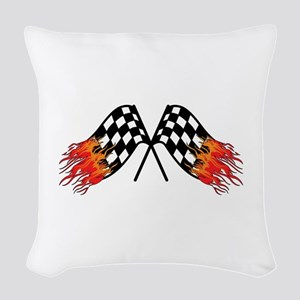 Hot Crossed Flags Woven Throw Pillow