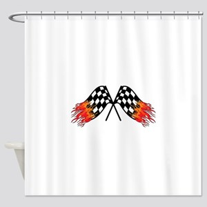 Hot Crossed Flags Shower Curtain