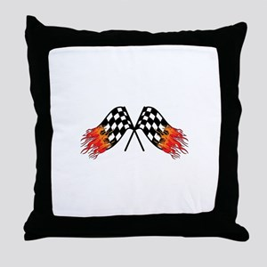 Hot Crossed Flags Throw Pillow