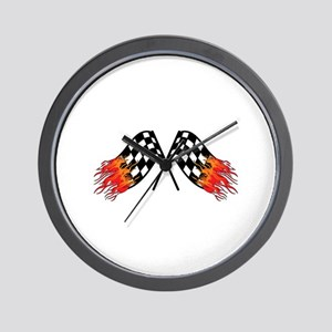 Hot Crossed Flags Wall Clock