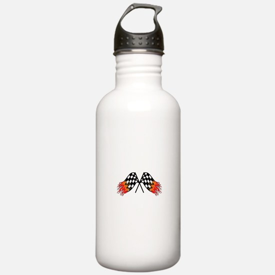 Hot Crossed Flags Water Bottle