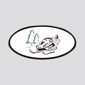 Snowmobiler Pine Trees Patch