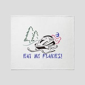 Eat My Flakes Throw Blanket