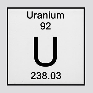 uranium tile coaster - Periodic Table Of Elements Uranium