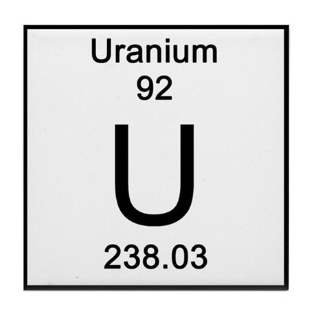 92 Uranium Tile Coaster By Science Lady