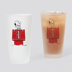 Snoopy - Mom #1 Drinking Glass