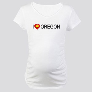 I love Oregon Maternity T-Shirt