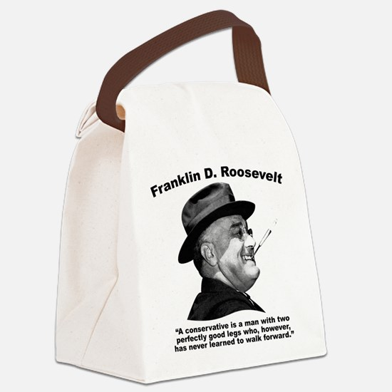 FDR: Conservatives Canvas Lunch Bag