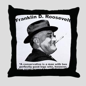 FDR: Conservatives Throw Pillow
