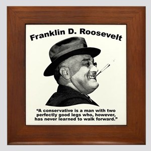 FDR: Conservatives Framed Tile