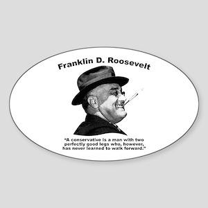 FDR: Conservatives Sticker (Oval)
