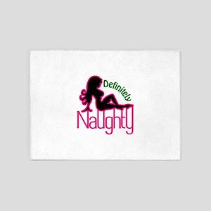 Definitely Naughty 5'x7'Area Rug