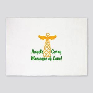 Angels Carry Messages Of Love! 5'x7'Area Rug