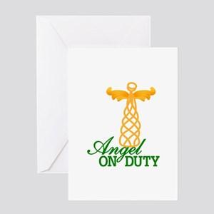 Angel On Duty Greeting Cards