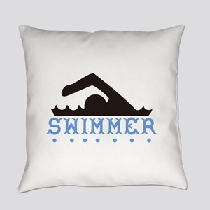 Swimmer Everyday Pillow